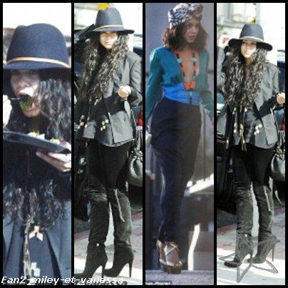 Vanessa était cette semaine de retour à Los Angeles et a été vue ce jeudi 16 décembre 2010, sur le plateau d'un photoshoot pour la ligne Printemps 2011 de Gucci.