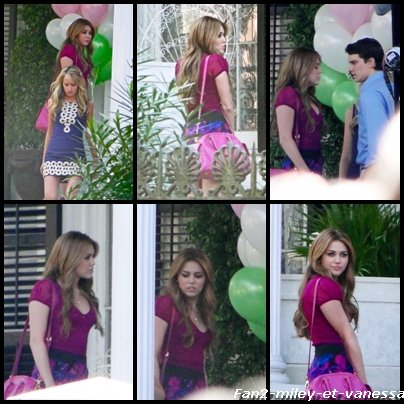 Découvrez de nouvelles photos de Miley Cyrus sur le tournage du film So Undercover ce mardi 21 décembre 2010.