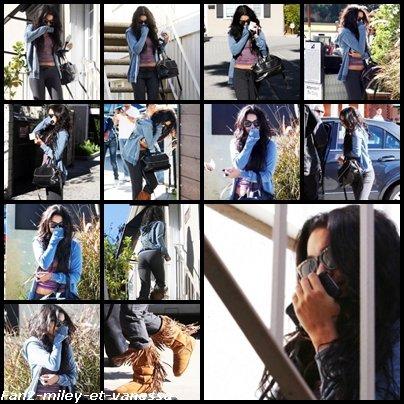 Vanessa a été vue se cachant le visage alors qu'elle sortait du salon de soins Ricki Criswell de Los Angeles ce mardi 28 décembre 2010, dans l' après-midi. Selon les personnes présentes, elle a fait beaucoup d'allés-retours entre le salon et sa voiture pour éviter le plus possible les flashs des paparazzi. On la comprend quand on voit le nombre de paparazzi la suivant partout.