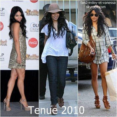 Quelle est la meilleure tenue de Vanessa Hudgens en 2010 ?