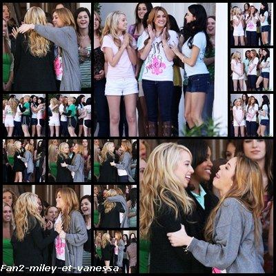 Voici de nouvelles photos de Miley Cyrus sur le tournage de son dernier film So Undercover ce lundi 3 janvier 2011.