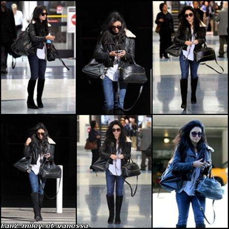 Vanessa à l'aéroport LAX ce vendredi 14 janvier 2011.