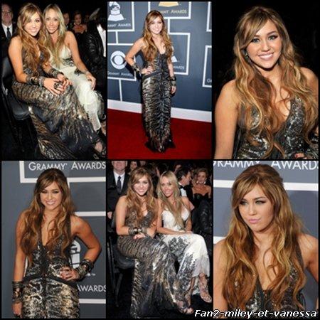 Miley Cyrus était présente ce dimanche 13 février 2011 aux Grammy Awards.