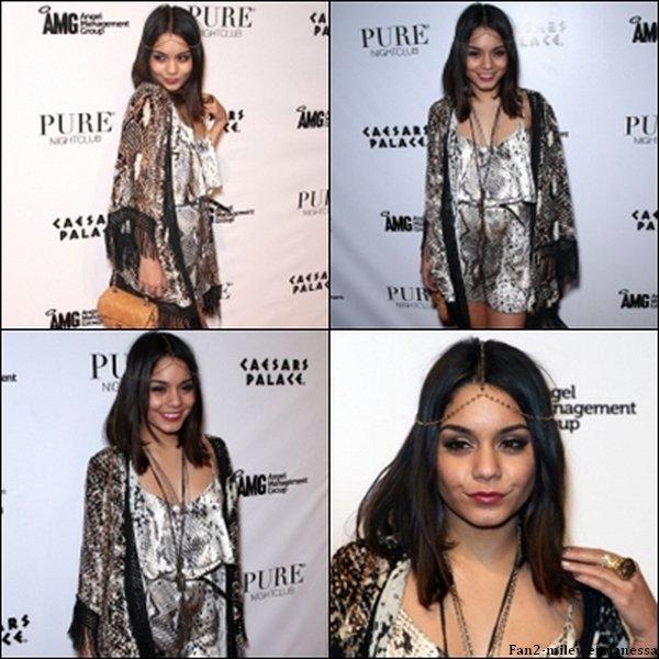 Vanessa s'est rendue ce week-end à Las Vegas pour fêter la sortie de son nouveau film Sucker Punch, et s'est rendue ce samedi 26 mars 2011, au soir, à la boite de nuit Pure pour célébrer cette sortie.