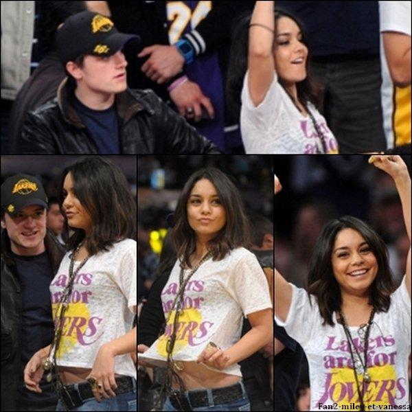 De retour à Los Angeles, elle s'est rendue ce dimanche 27 mars 2011, au soir, à un match de basketball avec son ami (ou plus, selon la rumeur) Josh Hutcherson, qui sera à ses côtés dans le film Journey 2 : The Mysterious Island.
