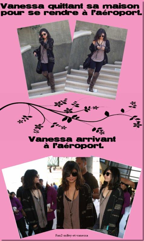 Vanessa été vue lundi 28 mars 2011, quittant sa maison de Studio City pour aller à l'aéroport de LAX, pour se rendre à Londre pour la promotion de Sucker Punch .
