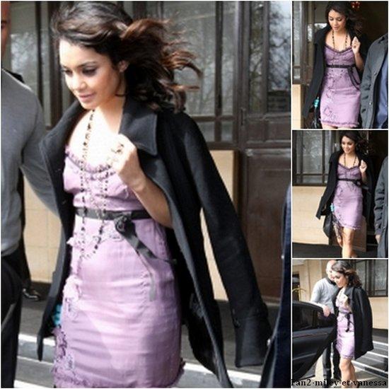 Vanessa a été vue devant son hôtel à deux reprises ce vendredi 1er avril 2011. Une fois en y sortant et une deuxième fois y retournant.