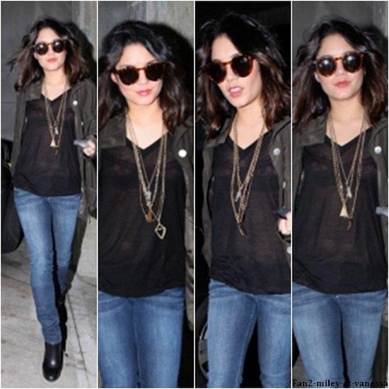 Vanessa est de retour à Los Angeles après son petit séjour en Europe. Elle a été vue ce mercredi 6 avril 2011, dans un parking de Hollywood, en pleine séance shopping.