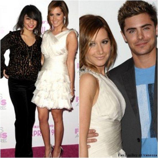 Vanessa s'est ensuite rendue, dans la soirée, à l'avant première du nouveau film de son amie Ashley Tisdale « Sharpay's Fabulous Adventure » un film dérivé de High School Musical. La plupart des acteurs de HSM étaient d'ailleurs présents pour soutenir Ashley.