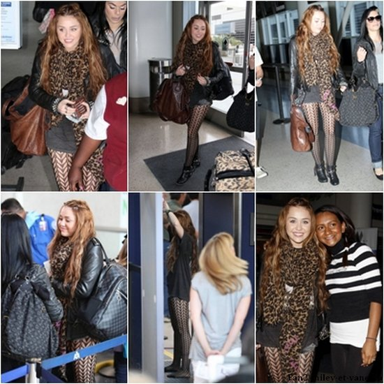 Miley est allée il y a quelques heures vers Chicago pour participer à l'émission d'Oprah Winfrey, qui sera diffusée le 13 avril. Voici des photos de Miley allant prendre son avion à LAX, un peu plus tôt ce jeudi 8 avril 2011, au matin.