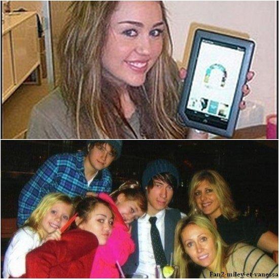 Voici 2 photos personnelles de Miley dont une quand elle était plus jeune.