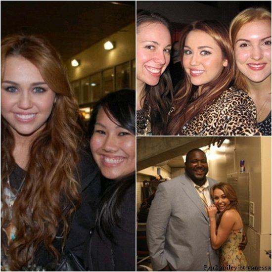 Voici des photos personelles de Miley et des photos d'elle avec ses fans.