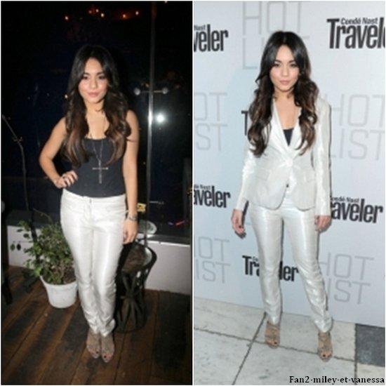 Vanessa s'est rendue ce lundi 11 avril 2011, au soir, à l'évènement « 2011 Conde Nast Hot List Party » qui s'est déroulé à la SoHo House de Hollywood. (Désolé pour la mauvaise qualité des images :S).