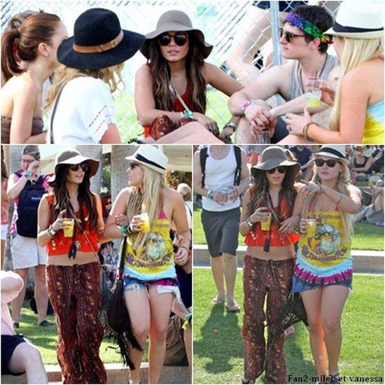 Comme tous les ans, Vanessa s'est rendue cette année au festival de Coachella, qui s'est déroulé à Indio, en Californie. Elle a été vue se baladant lors du premier jour de ce festival musical ce vendredi 15 avril 2011, avec des amis dont son costar de Journey 2 Josh Hutcherson. Le festival a lieu pendant trois jours.