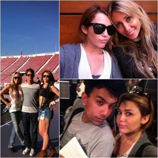 Voici les dernières photos qu'a postées Miley sur son compte Twitter.