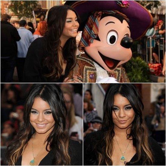 """Vanessa était à l'avant première de """" Pirates des Caraïbes 4 """" avec Ashley Tisdale ce samedi 7 mai 2011."""