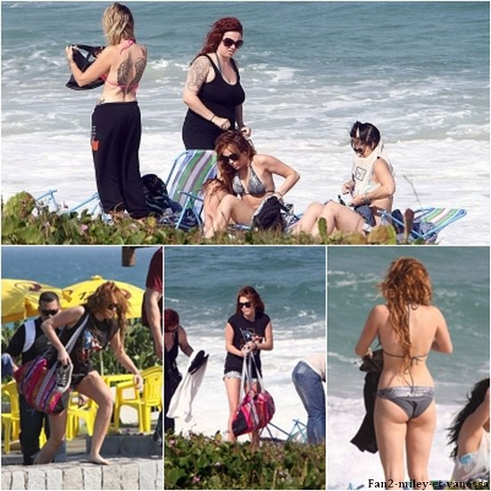 ce jeudi 12 mai 2011, Mile était à la plage à Rio De Janeiro.