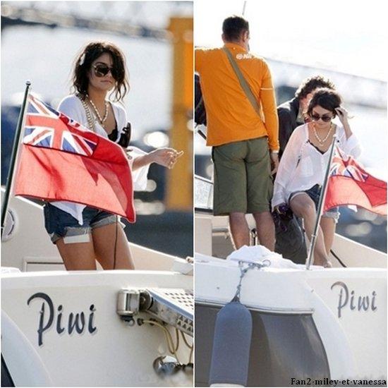 Vanessa à été vue sur un bateau ce dimanche 15 mai 2011.