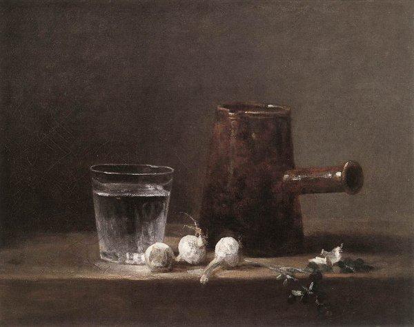 J'aime les natures mortes de Chardin