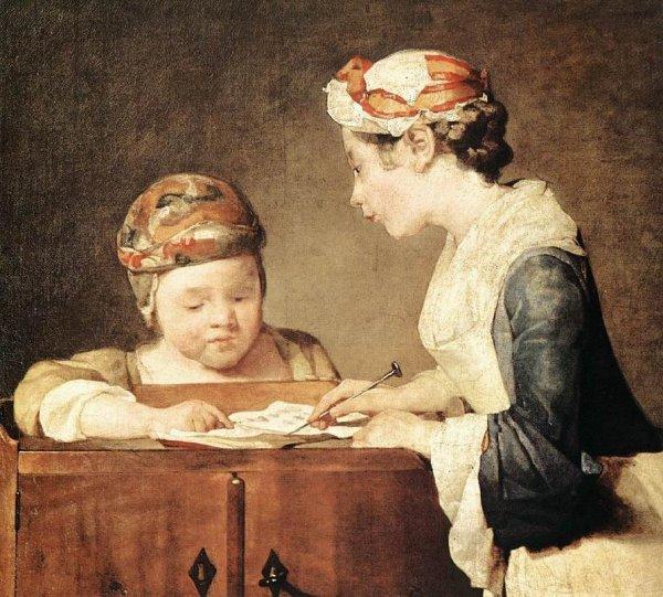 La vie au XVIIIième siècle par Chardin