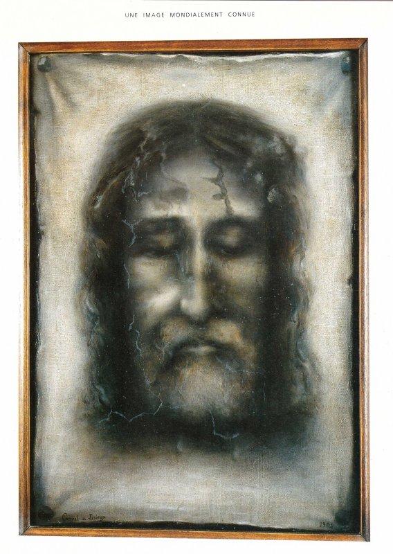 La sainte face sur le linceul de Véronique
