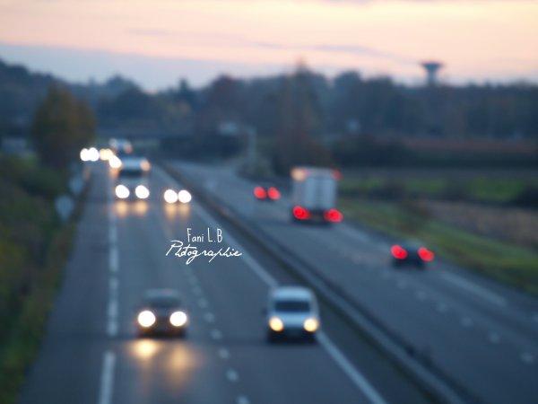 Bokeh road.