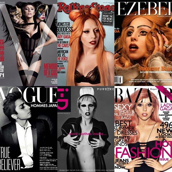 Bonne Année a Toutes & a Tous Voici quelques magazines dont Lady Gagaétait en couverture