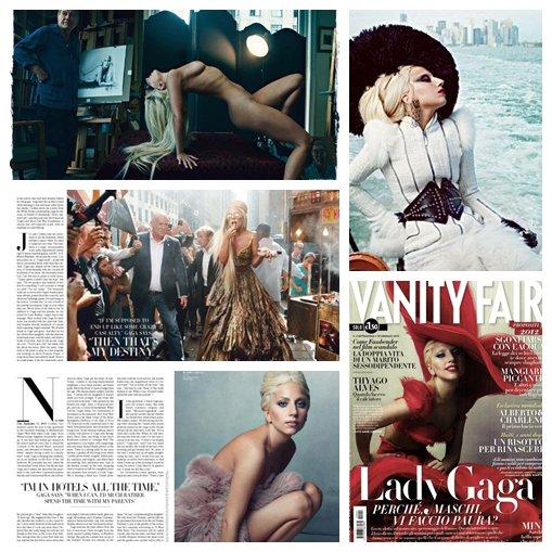 Gaga dans le célèbre magazine VANITY FAIR (n°janvier 2012)