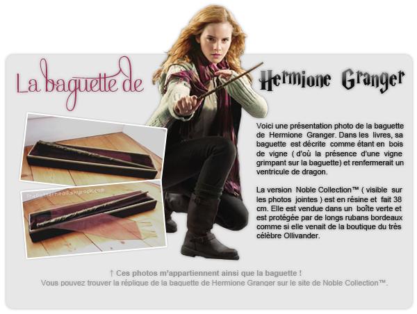 La baguette de Hermione Granger.
