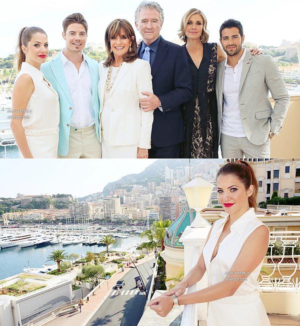 06/11/13   Julie et le cast de Dallas ont fait le tour de Monte-Carlo et ont posé pour Access Hollywood.