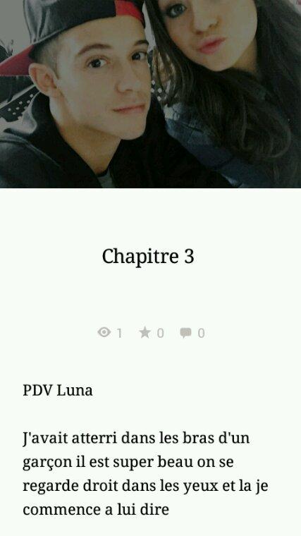 Mon chapitre 3 poster ❤❤❤
