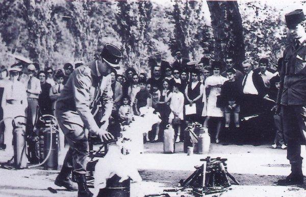 Man½uvre au CSP Montluçon lors de la journée porte ouverte en 1970 .