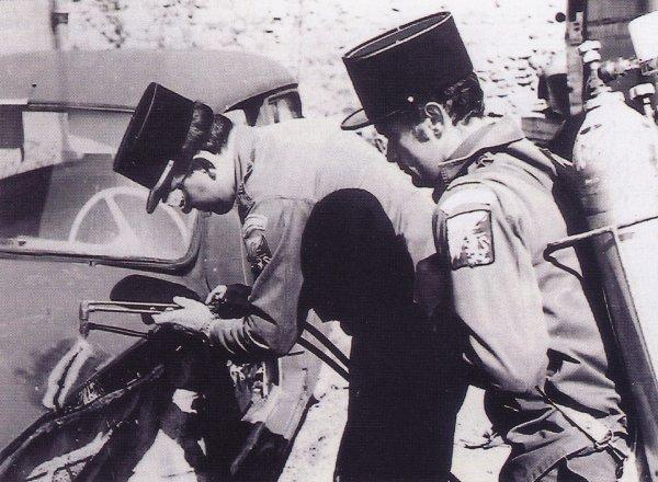 Man½uvre au CSP Montluçon dans les années 70 .