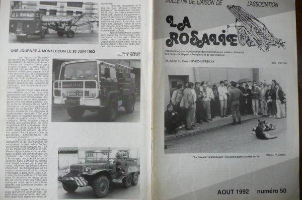 Article de l'association La Rosalie au sujet de leurs passage a Montluçon en 1992 .