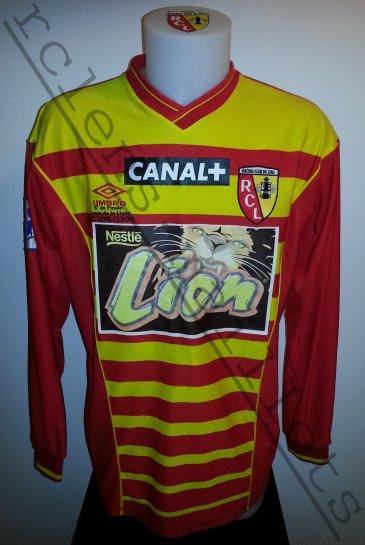 Saison 2000 01 maillot coupe de la ligue rc lens collection de maillots du rc lens - Rc lens coupe de la ligue ...