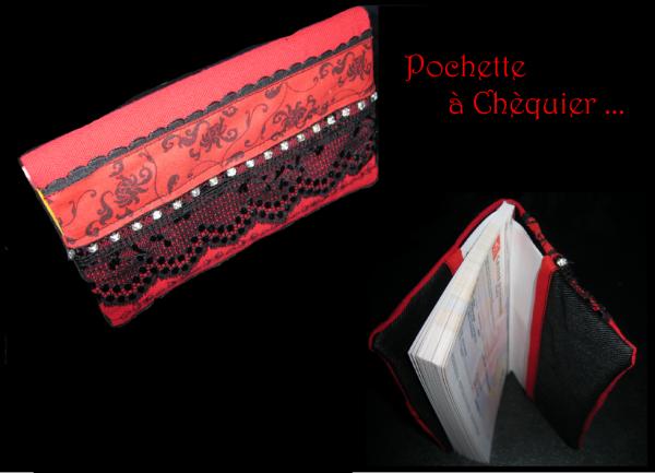 Porte-Chéquier Rouge et noir .