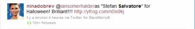 "« @iansomerhalder en ""Stefan Salvatore"" pour Halloween ! Brillant!!! »"