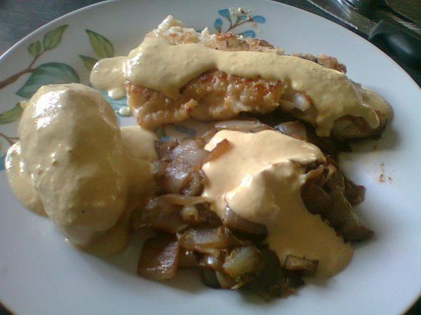 filet de cabillot avec pomme de terre et endiv cuite