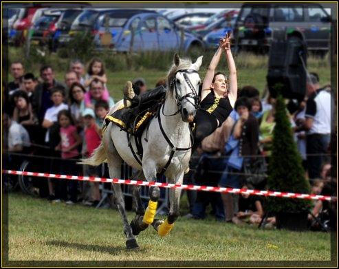 Fête du cheval Bizots numéro voltige