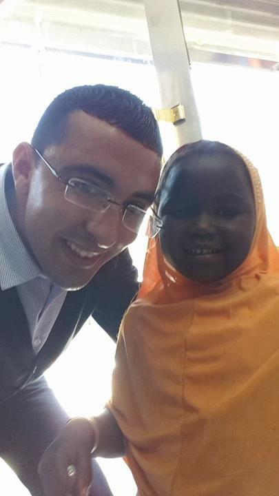 <3 Avec une petite fille de Mali ..