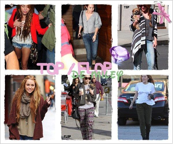 TOP / FLOP de Miley CYRUS