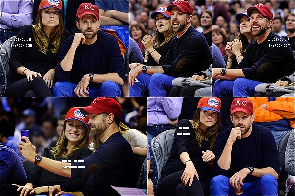 26/02/14 :  Le couple étaient au match  de basket des Houston Rockets contre les  L.A Clippers, Staples Center.
