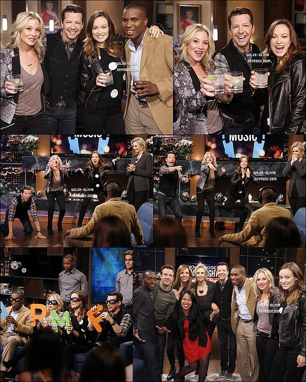 Le 27 Février, Olivia et Jason participaient à l'émission télé « Hollywood Game Night » sur NBC.