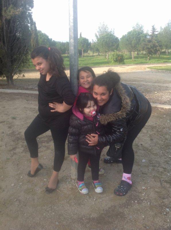 nous et ma cousine et ma tante