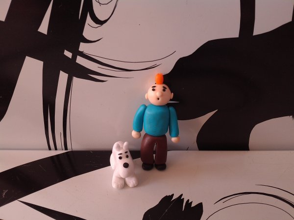 Les figurines tintin et milou
