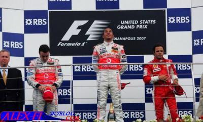 Résulats du Grand Prix des Etats Unis.
