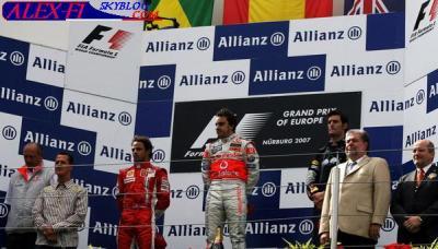 Résulats du Grand Prix d'Europe