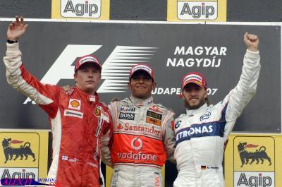 Résulats du Grand Prix d'Hongrie