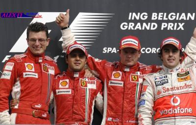 Résulats du Grand Prix de Belgique