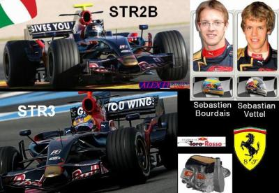 7] Toro Rosso Ferrari STR2B et STR3